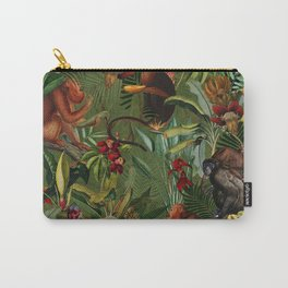Vintage & Shabby Chic - Green Monkey Banana Jungle Carry-All Pouch
