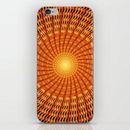 Amber Vortex Mandala iPhone Skin