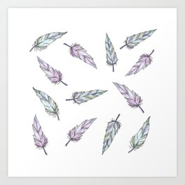 Feathers that flock together Art Print