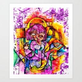 Girl!!!! BYE Art Print