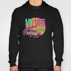My Other Car Is A Delorean     Time Machine Hoody