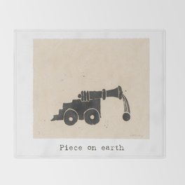 Piece on earth Throw Blanket