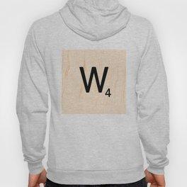 Scrabble Letter W - Scrabble Art and Apparel Hoody