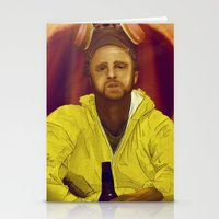 jesse pinkman Stationery Cards featuring Jesse Pinkman  by Inspired Engine