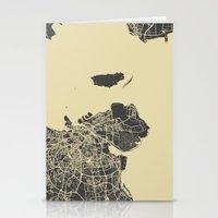copenhagen Stationery Cards featuring Copenhagen map by Map Map Maps
