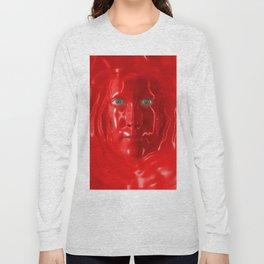 Red liquid Long Sleeve T-shirt