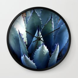 Blue Agave Succulent Cactus Wall Clock
