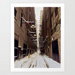 Chicago Winter Alley Art Print