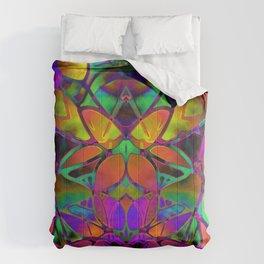 Floral Fractal Art G306 Comforters