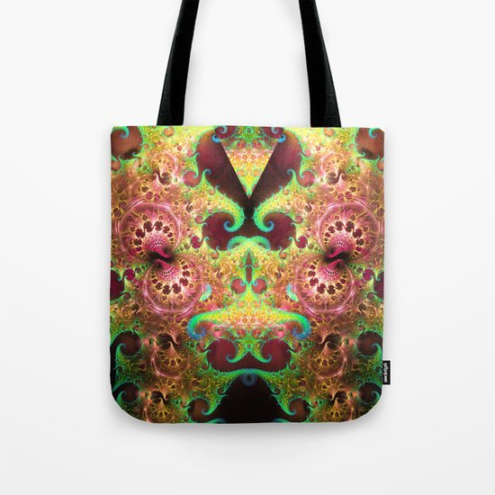 Groovy abstract with spiral patterns Tote Bag