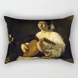 "Michelangelo Merisi da Caravaggio ""The Lute Player"" Rectangular Pillow"