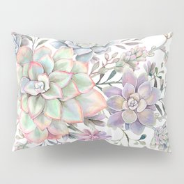 succulent watercolor 8 Pillow Sham