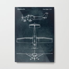 CESSNA 172 - First flight 1955 Metal Print