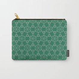 Hexagonal Circles - Emerald Carry-All Pouch