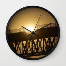 Sunshine on bridge of Montreal Wall Clock
