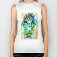 ganesh Biker Tanks featuring Ganesh by Lady Noire