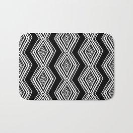 diamondback in black & white Bath Mat