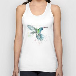 Hummingbird Flurry Unisex Tank Top