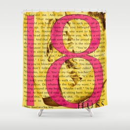 Eighteen (18) by JA Huss Based on a True Story (Yellow) Shower Curtain