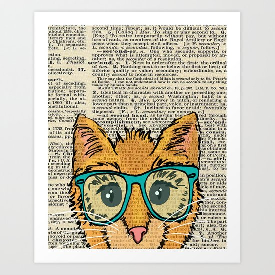 Orange Kitty Cat Art Print