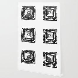 Tribal Print B&W- 02 Wallpaper