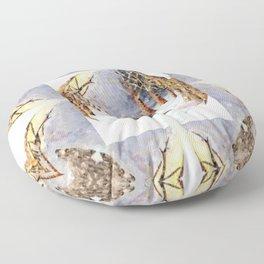 Wolf Oval Pattern Floor Pillow
