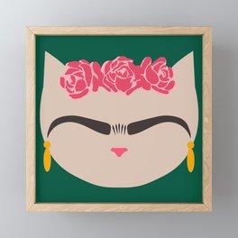 Frida the Cat Framed Mini Art Print