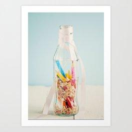 Botella de colores Art Print