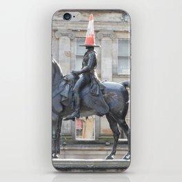 Scottish Photography Series (Vectorized) - Duke of Wellington Statue Glasgow #2 iPhone Skin