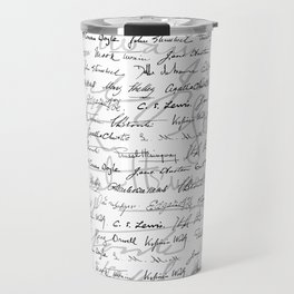 Literary Giants Pattern II Travel Mug