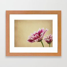 Flowers are the music of the ground Framed Art Print