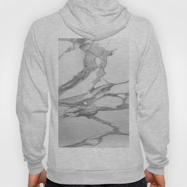 White Marble With Silver-Grey Veins Hoody