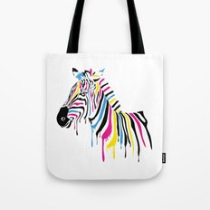 Abstract Zebra Pop Art - WPAP Style Street Art Tote Bag