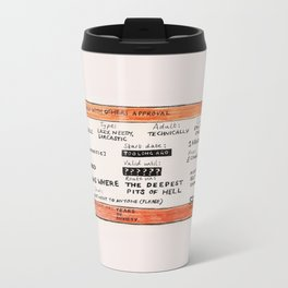 Life Crisis in a Train Ticket Metal Travel Mug