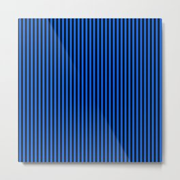 Striped black and blue background Metal Print
