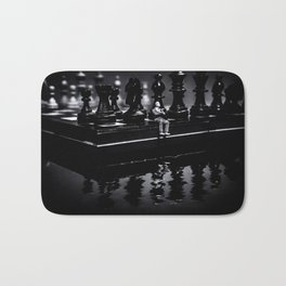 Contemplating Your Next Move when reflecting make sure your memories are clear Bath Mat