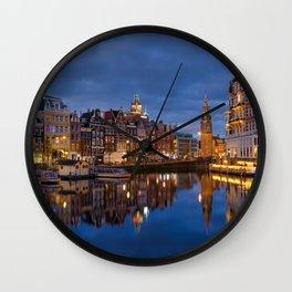 Amsterdam by night  Wall Clock