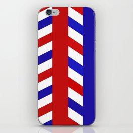 Striped Red Blue Pattern iPhone Skin