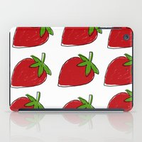 strawberry iPad Cases featuring StrawBerry by neken