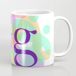 MONOGRAM INITIAL G PEOPLE FIGURES Coffee Mug