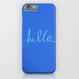 Hello, Sailor iPhone Case