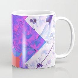 Abstract Geometric Peonies Flowers Design Coffee Mug