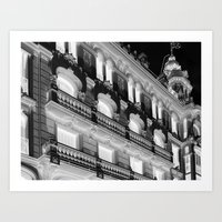 madrid Art Prints featuring Madrid by Kellabell9