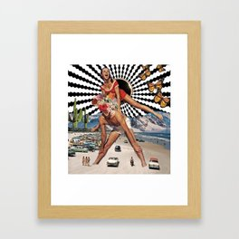 Beach Hopping Framed Art Print