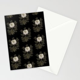 Mysterious Medieval Flower Pattern Stationery Cards