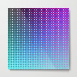 Purple Ombre Hexagon Grid Metal Print