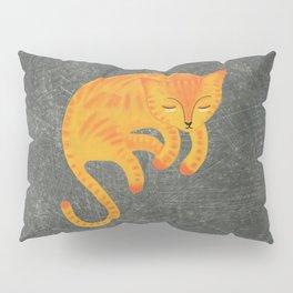 Orange Cat Sleeping Pillow Sham