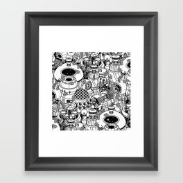 Dark Matter Space Machine Framed Art Print