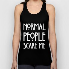 Normal People Scare Me AHS Unisex Tank Top