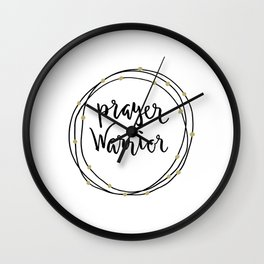 Prayer Warrior Wreath Wall Clock